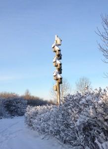Fuglehuse sne
